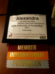 My badge at SCUP-46
