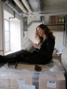 Alexandra den Heijer with the second edition of her book (+1000 copies)