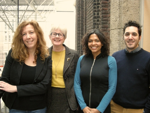 campus research team: Alexandra den Heijer (associate professor), Salome Bentinck (senior researcher), Flavia Curvelo Magdaniel (PhD researcher) and George Tzovlas (researcher)