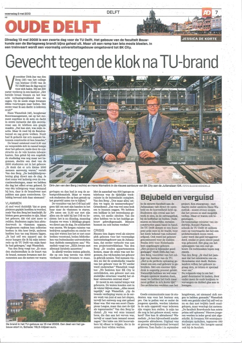 Interview with (TU Delft president) Dirk Jan van den Berg and professor Hans Wamelink, who both had leading roles in the making of BK city.