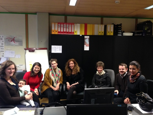 five PhD students, two professors and (possibly) one student of the future - sharing ideas and space at IST in Lisbon, Portugal