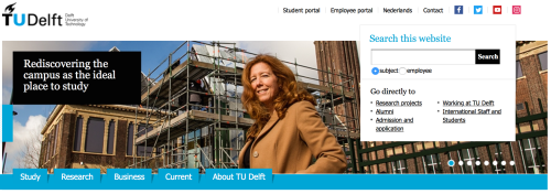 Alexandra den Heijer on TU Delft homepage (English).png